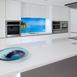 White gloss kitchen renovation