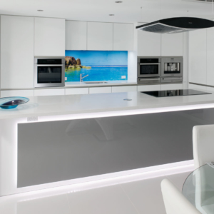 Luxury white gloss kitchen