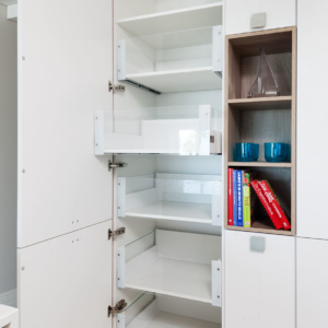 Pantry with internal glass drawers