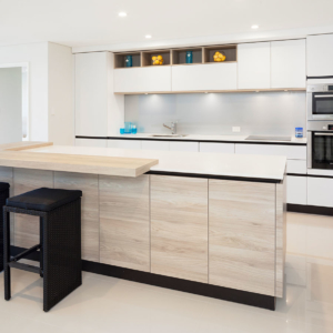 Wood and White Kitchen Design