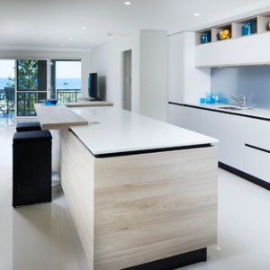 Wood and White Modern Kitchen Design