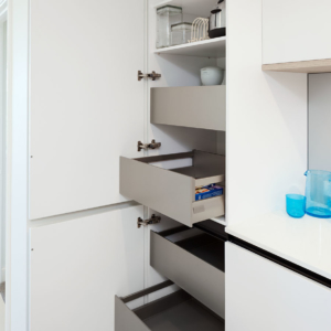 Pantry with internal drawers