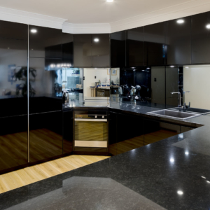 Black gloss kitchen design