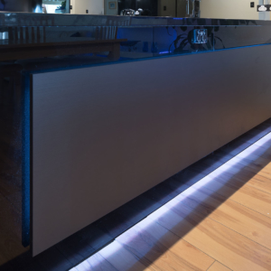 Led feature backlighting Kitchen cabinet