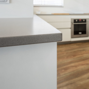 concrete look benchtop - KitchenHaus